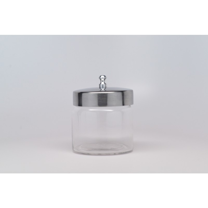 Glass Jar with stainless steel lid. Small. GS-604