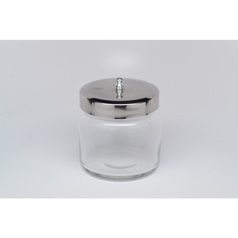 Glass Jar, with stainless steel lid. Medium. GS-606